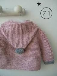 Crochet Kids Sweater Garter Stitch Ideas For 2019 Baby Knitting Patterns, Knitting For Kids, Crochet For Kids, Baby Patterns, Hand Knitting, Knit Crochet, Baby Cardigan, Cardigan Bebe, Baby Poncho