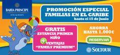 ¡Promoción especial para familias! Ahora, en nuestras agencias, encontráis fantásticos precios para viajar en familia al #Caribe.