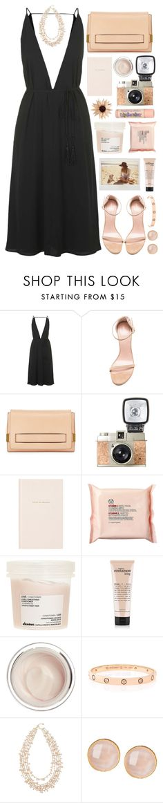 """""""RKY #68"""" by rkingy ❤ liked on Polyvore featuring Topshop, Stuart Weitzman, Chloé, Kate Spade, The Body Shop, Davines, Dr. Sebagh, Cartier, R.J. Graziano and Saachi"""