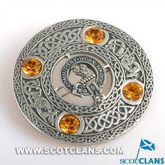 Sinclair Clan Crest Plaid Brooch