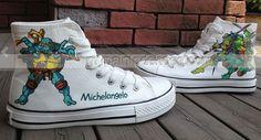 Teenage Mutant Ninja Turtles Shoes High-top Painted #Canvas Shoes#,High-top Painted Canvas Shoes