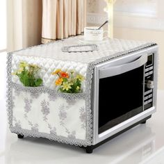 Online Shop Oil-proof dust-proof microwave oven cover flax cotton pastoral microwave cover with storage bag drop shipping Buy Kitchen, Kitchen Decor, Designer Bed Sheets, Asian Quilts, Appliance Covers, Kitchen Handles, Microwave Oven, Diy Home Crafts, Chair Pads
