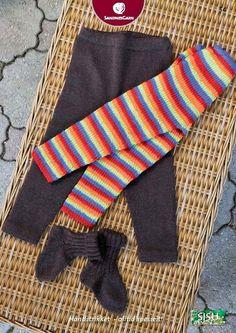 Gratis oppskrift tights i sisu Knitting For Kids, Baby Knitting, Baby Tights, Baby Barn, Knitted Baby Clothes, Baby Knits, Chrochet, Free Pattern, Knitting Patterns