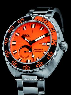 Doxa SUB 4000T Professional Diver with Sapphire Bezel  I love diving watches