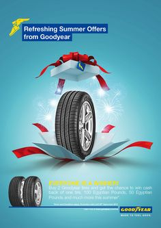 GoodYear Ads by Ahmed Edrees - Advertising Design Ads Creative, Creative Advertising, Advertising Design, Creative Design, Social Media Art, Social Media Design, Graphic Design Posters, Graphic Design Typography, Branding