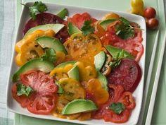 Tomato And Avocado Sashimi Salad http://www.prevention.com/food/healthy-recipes/farmers-market-recipe-finder-avocados/tomato-and-avocado-sashimi-salad