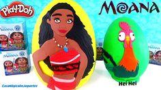Huevo Sorpresa Gigante de Moana o Vaiana y Hei Hei de Plastilina Play Do...