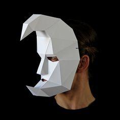 Carnival of Venice 3 Mask Set Bauta Crescent Moon por Ntanos Carnival Of Venice, Carnival Masks, Carnival Spirit, Cardboard Mask, Costume Carnaval, Venice Mask, Mask Template, Paper Mask, Venetian Masks