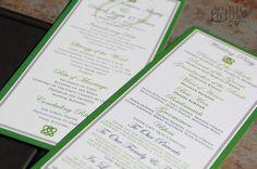 Irish Celtic Inspired Wedding Program by mybigdaydesigns on Etsy, $1.25
