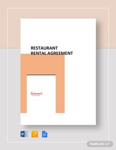 Rental Agreement Template Template - Word (DOC)   Google Docs   Apple (MAC) Apple (MAC) Pages   Template.net Room Rental Agreement, Rental Agreement Templates, Contract Agreement, Starting A Restaurant, Docs Templates, Word Doc, Letter Size, Being A Landlord, Bar Chart