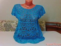 Blusa de abanicos a crochet / Esquemas | Entretejida