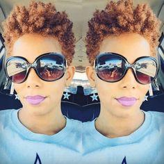 20 Short Natural Haircuts for Black Women: Long Pixie Cut; Natural Tapered Cut, Tapered Natural Hair, Pelo Natural, Natural Curls, Natural Big Chop, Tapered Sides, Short Natural Styles, Short Natural Haircuts, Twa Natural Hairstyles