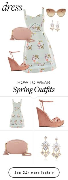 """""""Untitled #89"""" by beccaheyes on Polyvore featuring Oasis, MICHAEL Michael Kors, Schutz and Linda Farrow"""