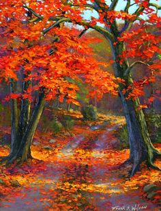 Painting is a hobby for many people and landscapes are loved by all. So, here we have some easy landscape paintings for beginners to replicate nature as clo Easy Landscape Paintings, Landscape Art, Autumn Painting, Autumn Art, Pinterest Pinturas, Bob Ross Paintings, Image Nature, Autumn Scenes, Pictures To Paint