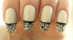 Stamped French manicure