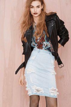 b7c769800 Nasty Gal | One Teaspoon Freelove Denim Skirt #nastygal #denim #skirt