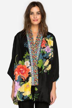 Johnny Was Fuska Floral Print Kimono Cardigan New Boho Chic Kimono Coat, Kimono Cardigan, Kimono Abaya, Kimono Outfit, Blazer Dress, Panda Design, Kimono Fashion, Boho Fashion, Luxury Fashion