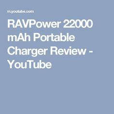 RAVPower 22000 mAh Portable Charger Review - YouTube