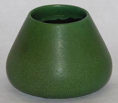 "Grueby Faience Company - Vase. Matte Glazed Pottery. Boston, Massachusetts. Circa 1900. 4-3/4"" x 6-3/4""."
