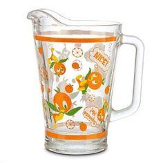 Amazon.com   Disney World Orange Bird Glass Pitcher: Carafes & Pitchers