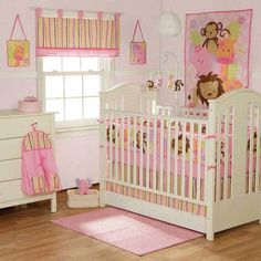 pink jungle theme nursery for her.