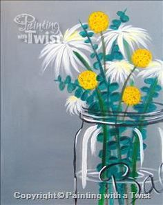 Public event vibrant spring flowers mason oh painting for Painting with a twist lexington