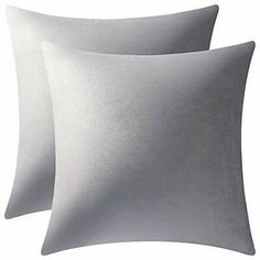 "DEZENE Decorative Pillow Cases 18x18 Light-Grey: 2 (18""x18"" 2 PCS