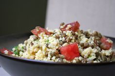 Gierst linzen salade