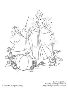 cinderella coloring book pages cinderella with the fairy godmother - Cinderella Free Coloring Pages