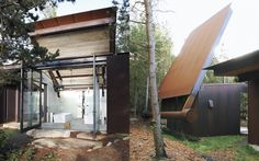 Olson Kundig,approaching absurdity with their recent pop-top roofed bath house, the Shadowboxx.