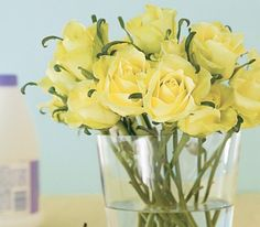 Add a few drops of hydrogen peroxide to vase water to make flowers last longer