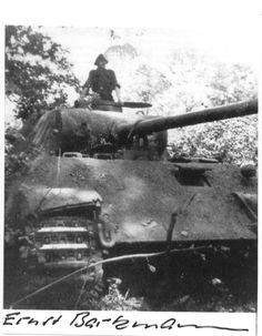 SS-Oberscharführer Ernst Barkmann und sein Panther