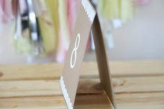 Table numbers Wedding Baby Shower Party Decoration by Unify, $2.00