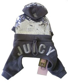 Juicy Couture Silver Sequin Dog Tracksuit