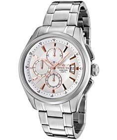Men's Wrist Watches - Invicta Mens 1481 Specialty Collection Chronograph Silver Dial Stainless Steel Watch ** Visit the image link more details.