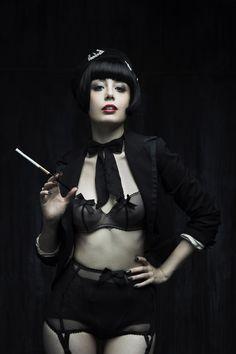 Louise Ebel, Pandora blog. -- Bra and Suspender: Chantal Thomass. -- Photographer: Pauline Darley