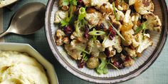 Make this dish ahead of time by roasting and then refrigerating the cauliflower for up to two days. Before guests arrive, bring to room temperature and then toss the salad together.