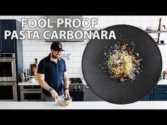 Easy Homemade Spaghetti Pasta Carbonara in Twenty Minutes Spaghetti Carbonara Recipe, Pasta Carbonara, Pasta Recipies, Best Pasta Recipes, Homemade Spaghetti, Homemade Pasta, Boiled Chicken, Roman