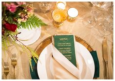 An Elegant and Masculine Hunter Green and Gold Styled Shoot