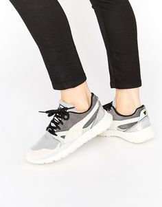 Image 1 ofPuma Duplex Trainers In Nude With Holographic Trim at Asos