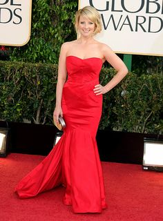 Melissa Rauch wearing Guishem at the 70th Annual Golden Globe Awards at the Beverly Hilton in Beverly Hills, CA