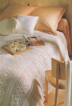 Bedspread Cover PDF Crochet Pattern : Afghan . Blanket . Throw . Instant Digital Download by PDFKnittingCrochet on Etsy