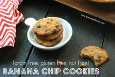 Nut Free Paleo Chocolate Chip Cookies from www.everydaymaven.com