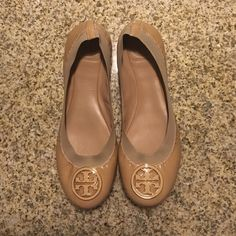 Tory Burch Ballet Flats Tory Burch Caroline Ballet Flats size 8. Purchased from Nordstroms for $225 and only worn once. Really great condition. No trades :) Tory Burch Shoes
