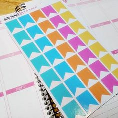 Colorful banner stickers for planners #sillymimi