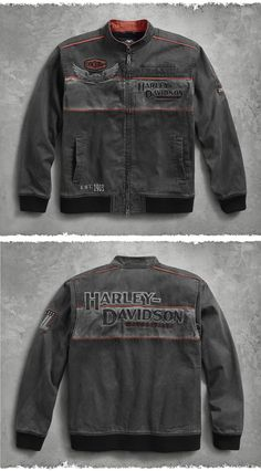 The essential off-duty jacket. | Harley-Davidson Men's Iron Block Casual Jacket