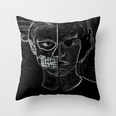 American Horror Story Throw Pillow by hoopingwithsarah - $20.00  I really, really, really want this....