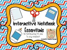 Interactive Notebook Essentials - use with any content - $3.50
