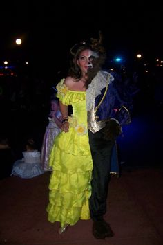 Beauty and the Beast all-in-one costume!!  Best Halloween costume ever!!
