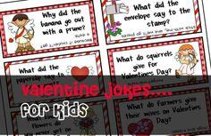 FREE PRINTABLE 10 fun Valentine Jokes for kids! #makemegrin.com
